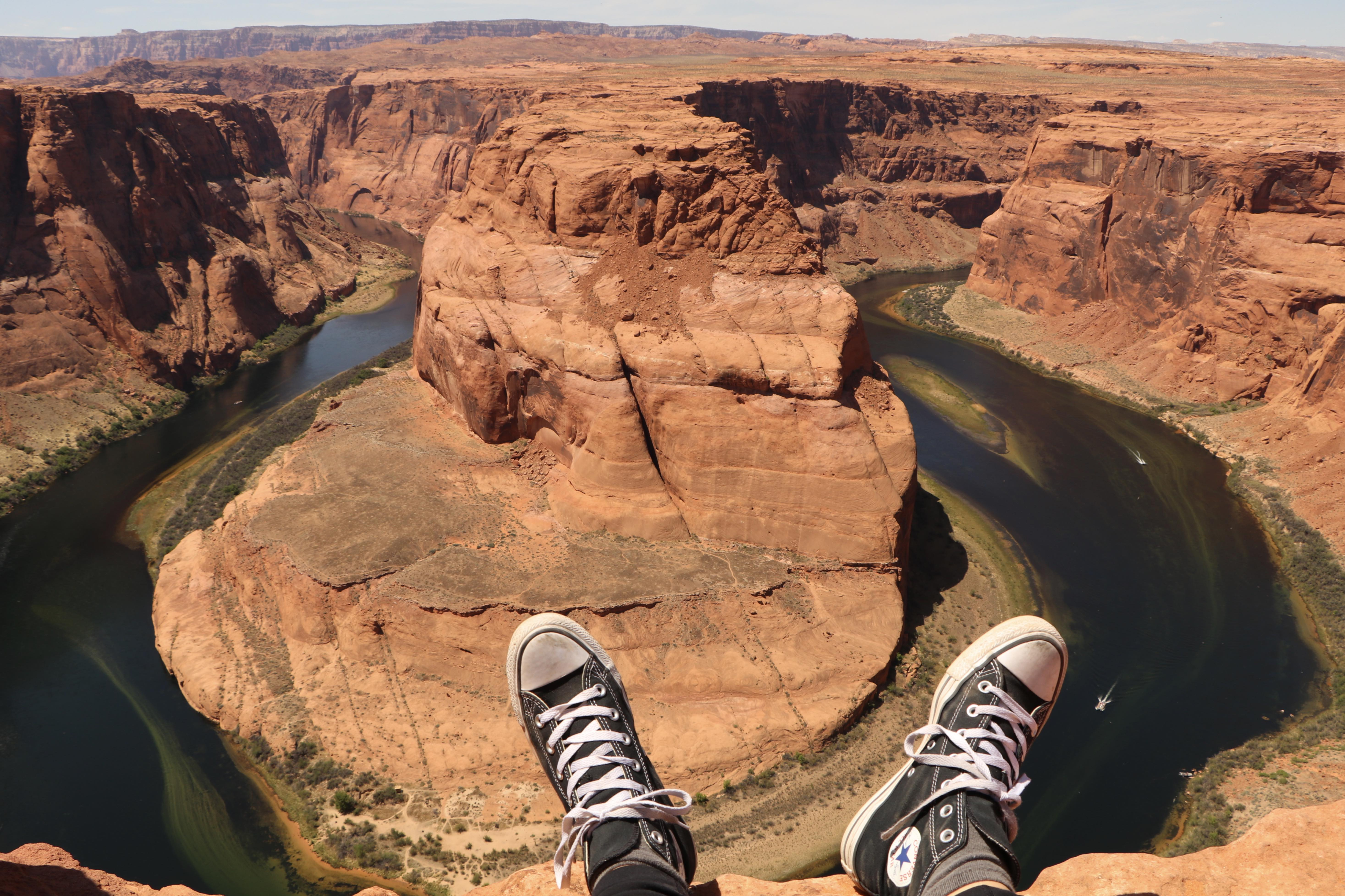 At the edge of Horseshoe Bend in Page, Ariz.