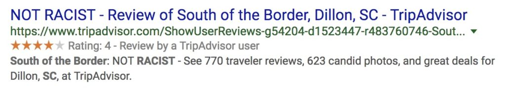 """South of the Border review """"not racist"""""""