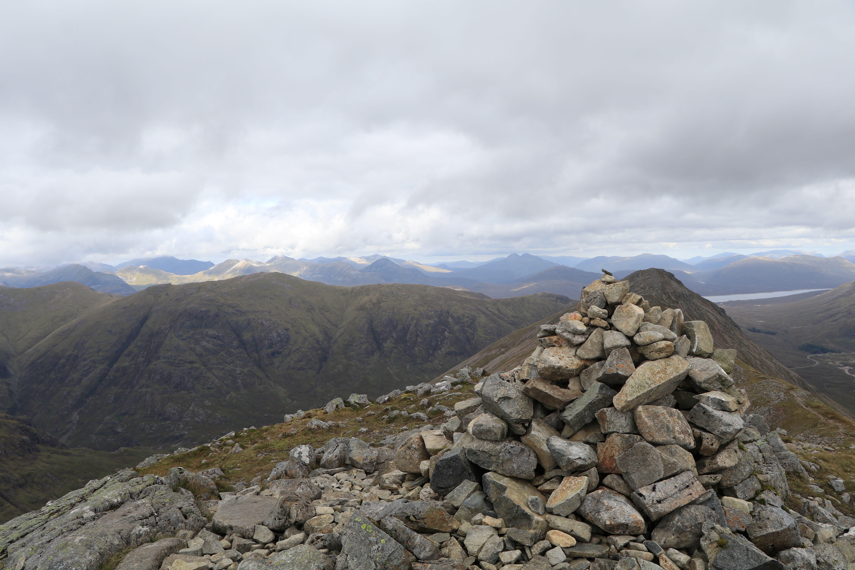 The cairn atop Buachaille Etive Beag ECF