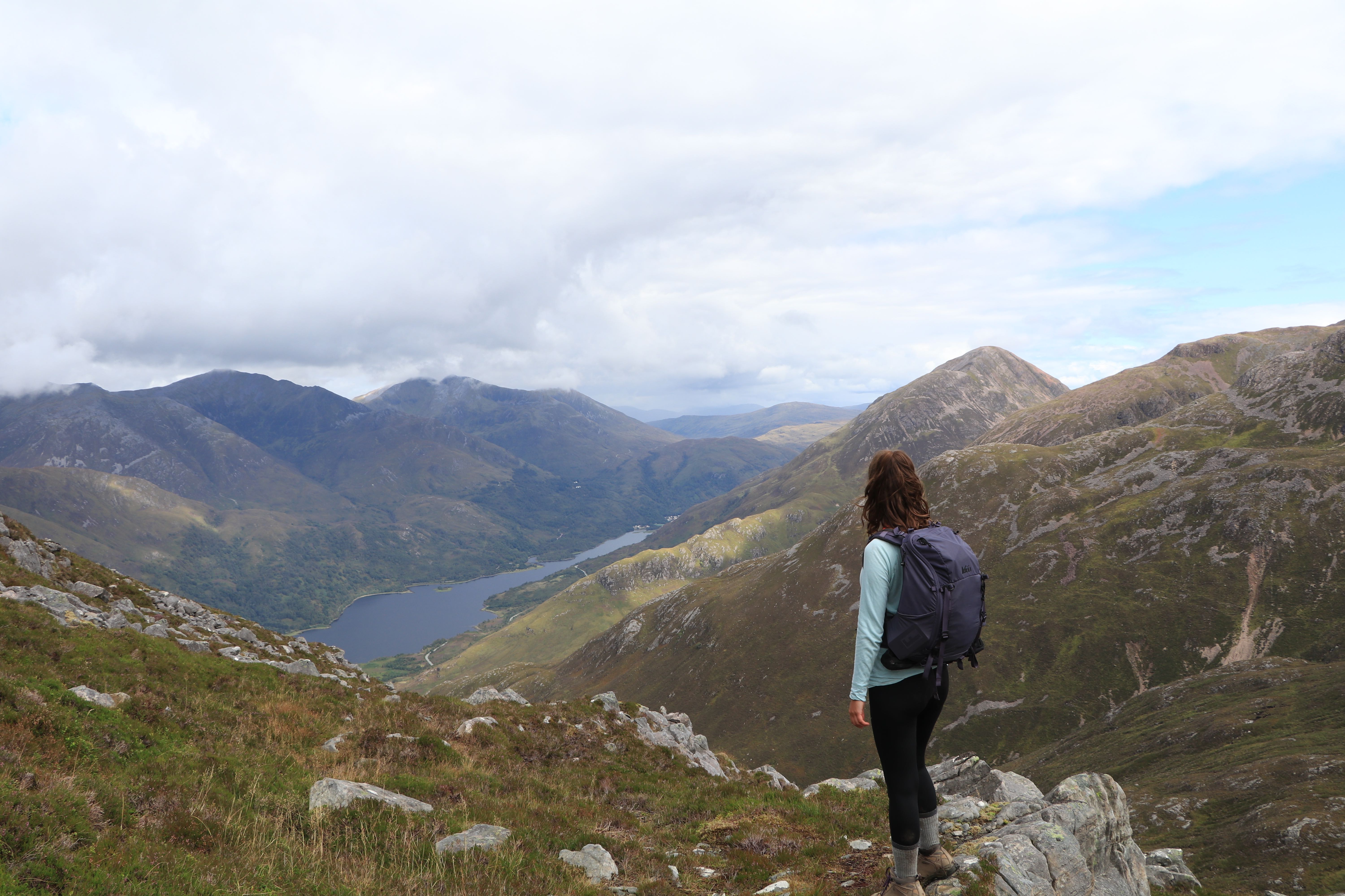 Me looking at Loch Leven on the Pap of Glencoe ECF