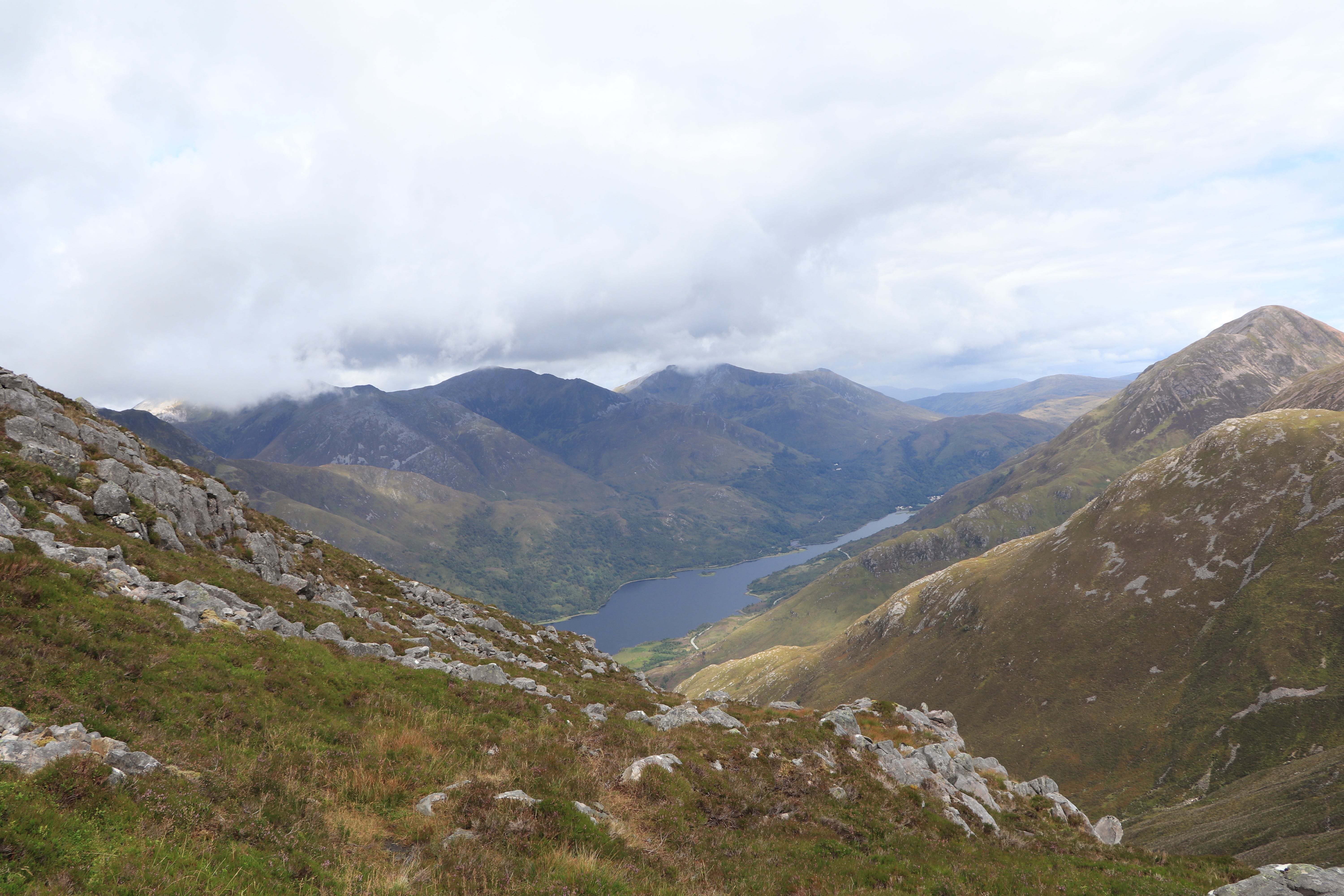View of Loch Leven from Pap of Glencoe ECF
