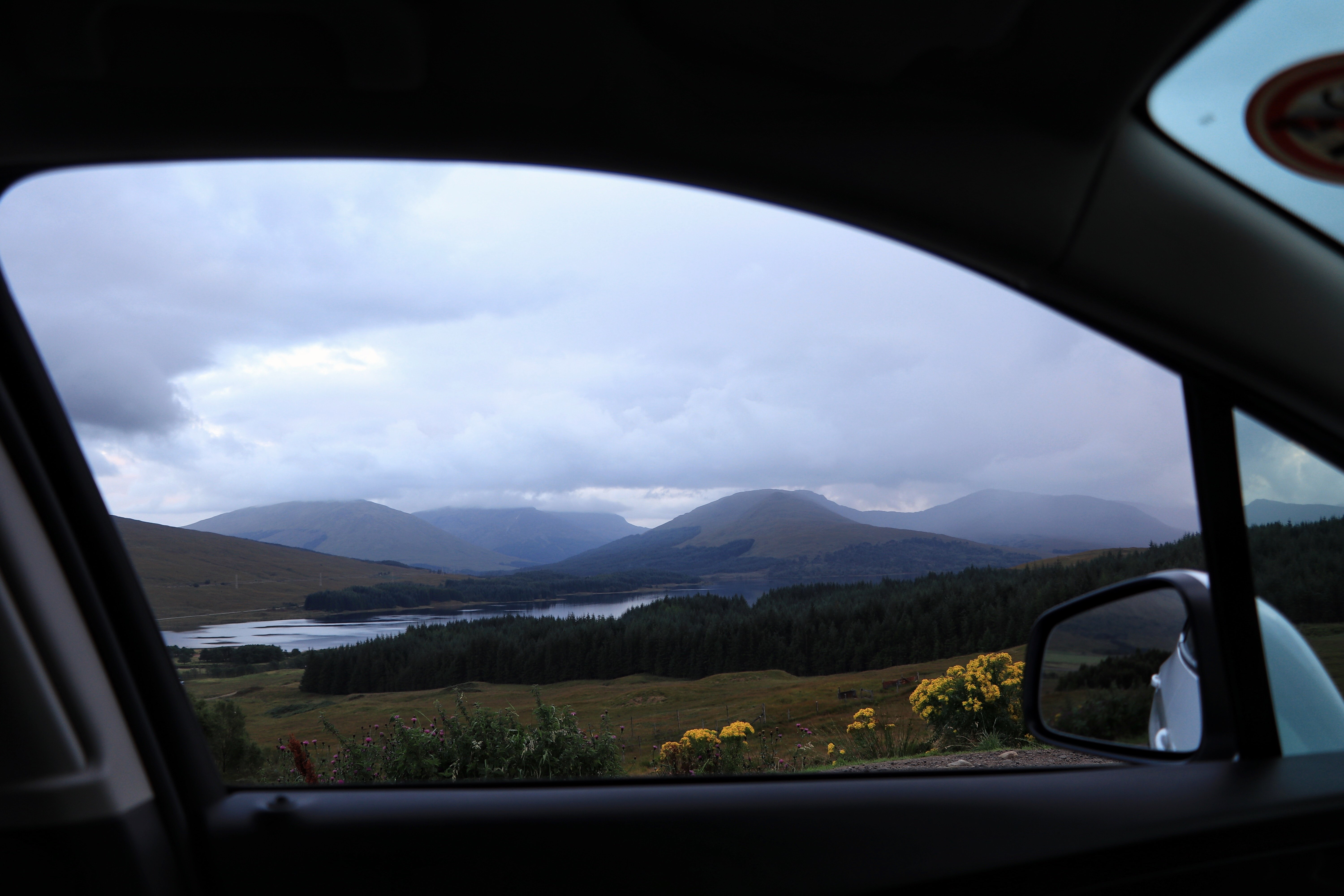 View of the Highlands from the window of the rental ECF