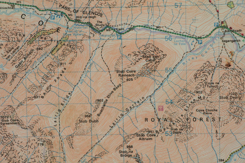 Map of Buachaille Etive Beag