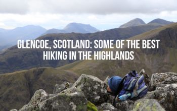 Hiking Buchaille Etive Beag in Glencoe, Scotland