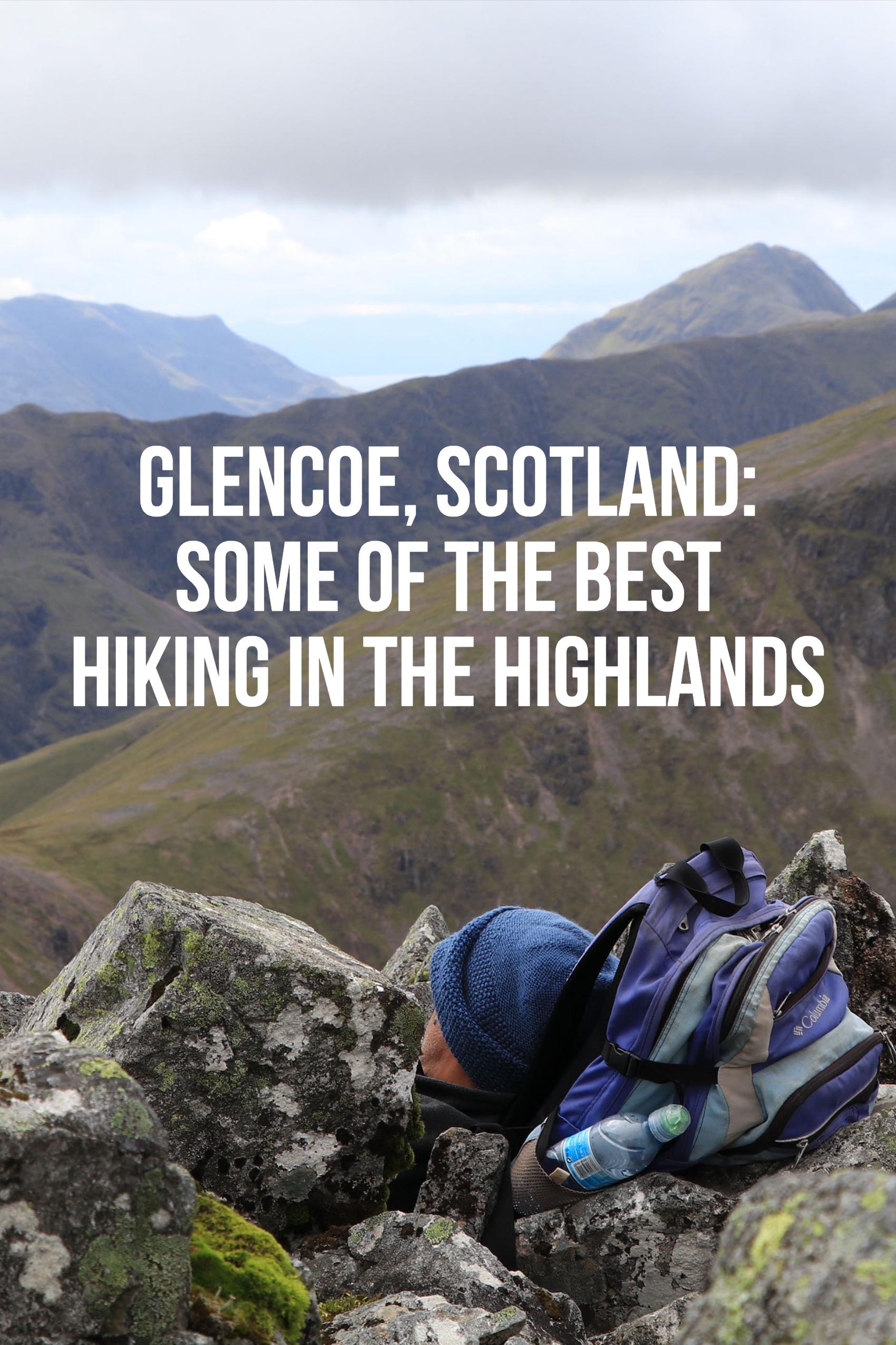 Hiking Buchaille Etive Beag in Glencoe, Scotland