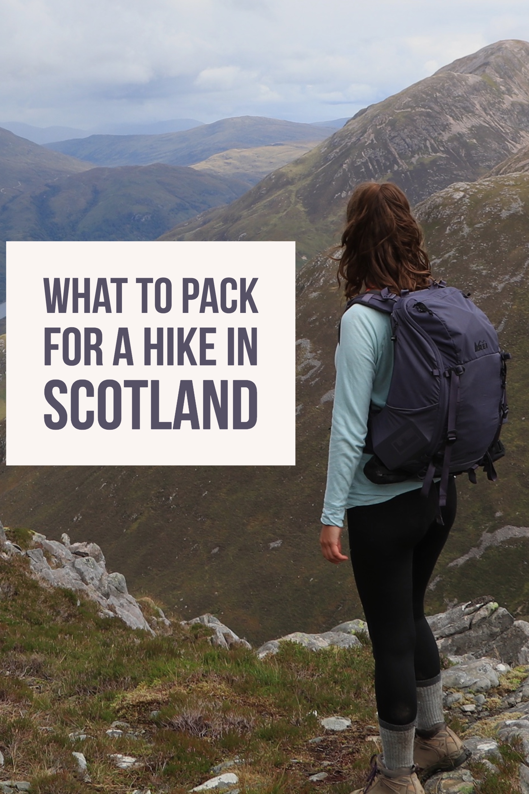 What to pack for a hike in Scotland, Pinterest
