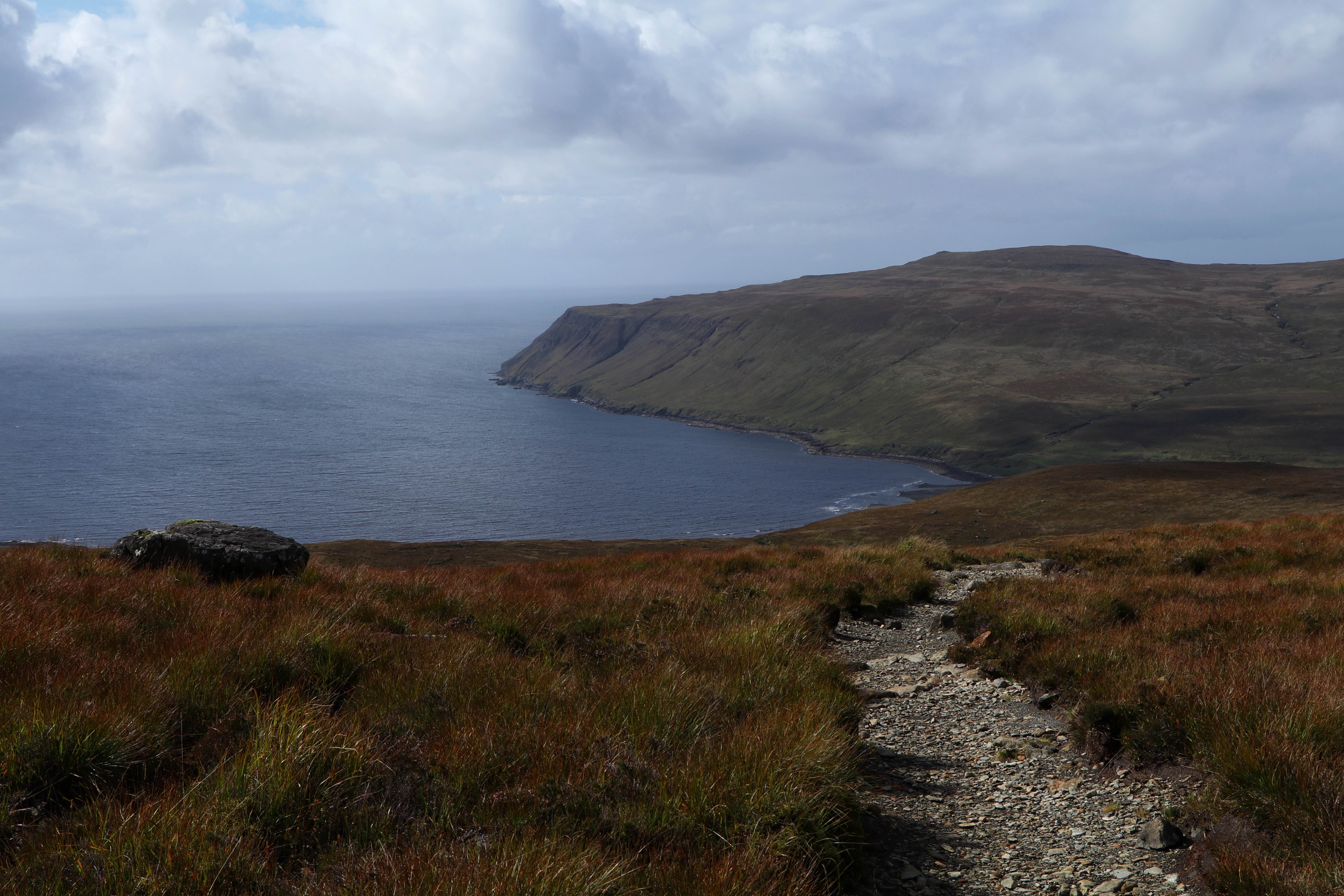 The way down to Glen Brittle Beach from Coire Lagan, Isle of Skye ECF