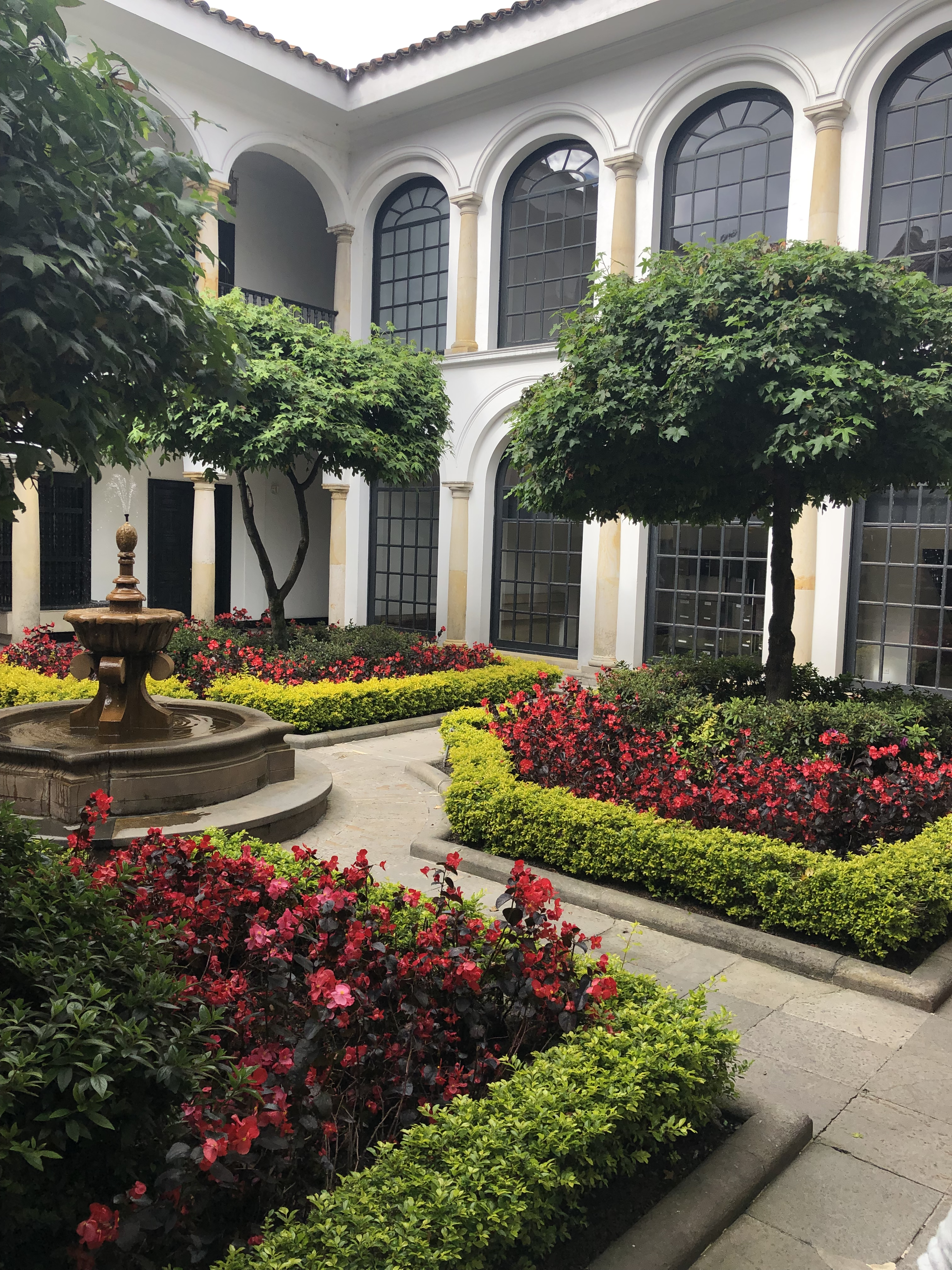 Courtyard of the Botero Museum